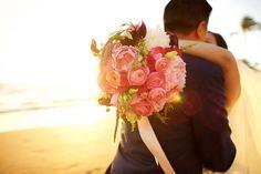 Vibrant Pink Wedding Bouquet Anna Kim Photography
