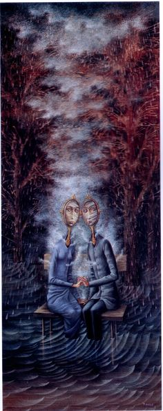 Remedios Varo - Each others reflection, both to blame & inundating themselves with negativity. Have a print on my wall.