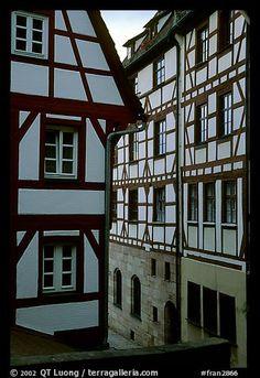 Half-timbered houses. Strasbourg, Alsace, France