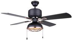 "GUNNAR 42"" Ceiling Fan in black & bronze  CF42GUN4BKZ"