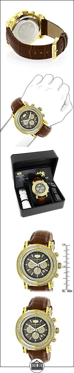 Large Diamond Bezel Watch for Men 2.5ct LUXURMAN Escalade Yellow Gold Plted  ✿ Relojes para hombre - (Lujo) ✿
