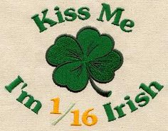 Irish Kiss - Clover | Urban Threads: Unique and Awesome Embroidery Designs