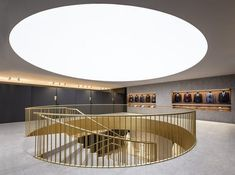 Image 2 of 22 from gallery of Sedka Bridal Store / Pablo Muñoz Payá Arquitectos. Photograph by David Zarzoso Arch Interior, Interior Design, Basement House, Bridal Stores, Spiral Staircase, Skylight, Retail Design, Open Plan, Second Floor