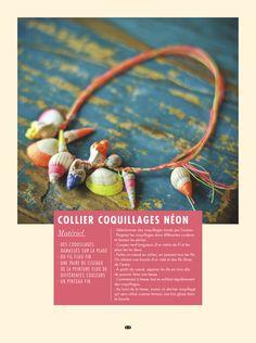 Créez un collier coquillage néon