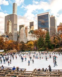 Central Park Ice Rink by @kellyrkopp by newyorkcityfeelings.com - The Best Photos and Videos of New York City including the Statue of Liberty Brooklyn Bridge Central Park Empire State Building Chrysler Building and other popular New York places and attractions.