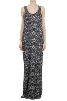 Marcelo Burlon Women Long Dress with Reptile Print - Glamood Outlet ee783569a3f57