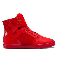 SUPRA Footwear   Official Store   SKYTOP LX   RED/RED - RED