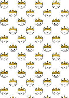 FREE printable cat pattern paper | #kawaii #ReyesMagos #ThreeKingsDay