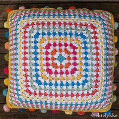 Meet Norwegian Crocheter Torill of Ekte Lykke Crochet Blocks, Crochet Cushions, Beautiful Crochet, Craft Work, Blanket, Sewing, Crafts, Handmade, Handmade Crafts