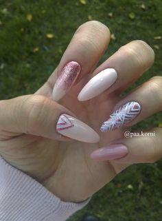 Geometric nails, Ombre nails #nailart #hybridnail #semilac  SEMILAC 162, 094,136 Nailart, Beauty, Beauty Illustration