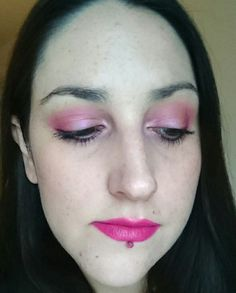 Recent #makeupoftheday using Estee Lauder Double Wear foundation Elf Pinktastic blusher several shades from the Urban Decay Alice palette Revlon Dramatic Definition Mascara and NYX Pink Lust Liquid Suede Lip Cream!