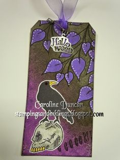 Dylusions Halloween Tag by Caroline Duncan ~ stampingsandinklings.blogspot.com