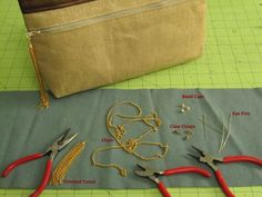 Learn how to decorate zipper pulls with chain, suede, or leather tassels in this SewStylish tutorial.