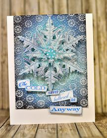 Crafting ideas from Sizzix UK: Frozen fractals all around!