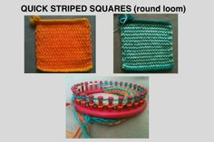 Free Charity Pattern Pattern for quick striped squares (round loom) - Square Circle Forum