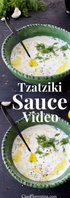 Tzatziki Sauce Recipe Video with Greek Yogurt, Cucumber, Garlic and Lemon   | CiaoFlorentina.com @CiaoFlorentina