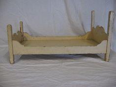 vintage wood doll bed. $20.00, via Etsy.