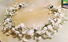 Corona de flores naturales, para el pelo