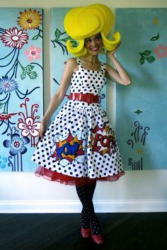 Cassie Stephens: DIY: A Lichtenstein Dress That'll Knock You Out