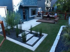 modern small backyard design with kitchen dining and living