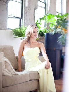 Beauty Sweetheart Chiffon bridesmaid dress with Empire waist