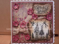 Lavinia Stamps, Katy Sue Designs sentiment, Cricut Storybook flourishes and die-cut flowers