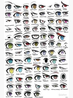 'Danganronpa Eyes' Poster by Quixilvrr - drawing tips Anime Drawings Sketches, Pencil Art Drawings, Cartoon Drawings, Eye Drawing Tutorials, Drawing Tips, Drawing Process, Drawing Drawing, Art Tutorials, Body Drawing Tutorial