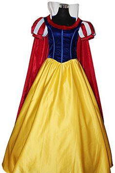 Snow White Costumes For Women Party Dresses Cosplay Adult Halloween Dexlue A-Line Dress Princess Costume (Female XL) Generic