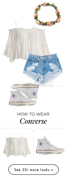 """cute hippy ♥"" by sushi-brain on Polyvore featuring Sans Souci, Levi's and Converse"