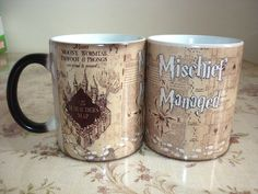 Drop shipping!NEW MUG -- Harry Potter Marauders Map Magic Hot Cold Heat Temperature Sensitive Color-Changing Coffee Tea Mugs Cup