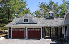 House plans with detached garage breezeway 300 225 for Porte cochere vs carport