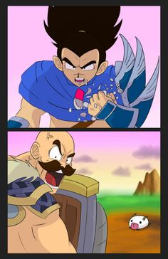 League of Legends x DBZ- It's Over 9000! by KittyConQueso.deviantart.com on @DeviantArt