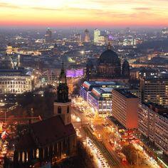 Fantastic Berlin sunset