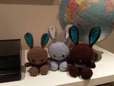 Crochet amigurumi spring bunnies