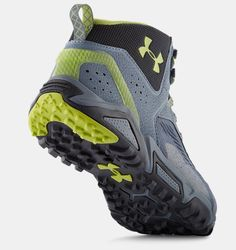 Botas de Hiking UA Glenrock Mid para Hombre Sock Shoes, Men's Shoes, Shoes Sneakers, Trail Shoes, Hiking Shoes, Sneaker Boots, Bootie Boots, Under Armour Shoes, Cool Boots