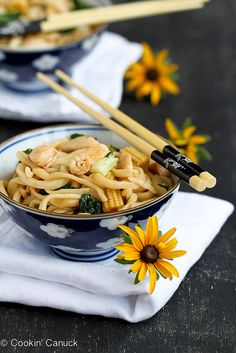 Did someone say hoisin sauce? Chinese Noodles with Chicken, Bok Choy & Hoisin Sauce | cookincanuck.com #chicken