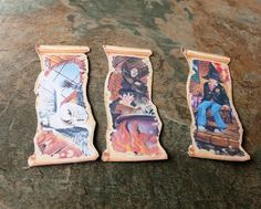 Harry Potter, Book Marks, 5 sets of Harry Potter Book Marks, Book Accessories,Scrapbooking,Smash Book,Journal Accessories,Book Lovers Gift, by SpryHandcrafted on Etsy