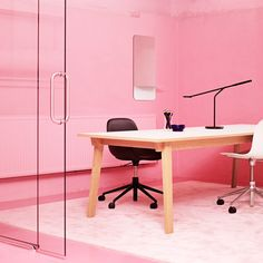 Normann Copenhagen brings a wave of pink to conventional office settings, including original Danish designs and pink interior styling. Pastel Kitchen, Interior Styling, Interior Design, Pink Office, Danish Design, Scandinavian Design, Office Decor, Home Accessories, Copenhagen