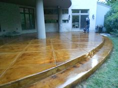 Brown Acid Stain on Patio - All American Decorative Concrete - Chicago - Picasa Web Albums