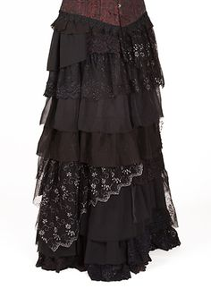 498 - Ragamuffin Skirt - Gothic, romantic, steampunk clothing from The Dark Angel