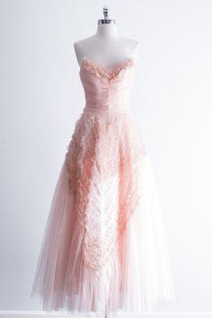 1950s pink tulle gown   shopgossamer.com
