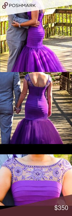 Sherri Hill Prom Dress Beautiful prom dress for sale! Worn once and unfortunately I need to get rid of it! No alterations and can fit smaller than an 8! Sherri Hill Dresses Prom