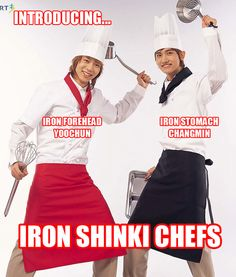 made me laugh and smile to no end :')  The two partners in crime... The Food Stealer and The Big Eater XD