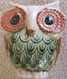 Look what I found on @eBay! http://r.ebay.com/qFU6ol Vintage OWL Pottery Planter RETRO BIG EYES 1960s