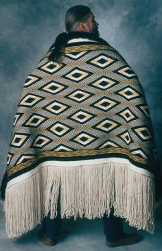"""The Diamonds"" Ravenstail weaving robe, Private Collection, Juneau, AK Clarissa Rizal Native American Artifacts, Native American Tribes, Native American History, Raven Tail, Maori Designs, Tlingit, Tribal People, Indigenous Art, Native Art"