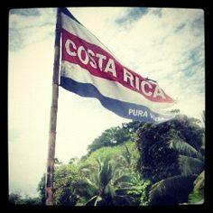 Costa Rica flag in Manuel Antonio. Pura Vida.