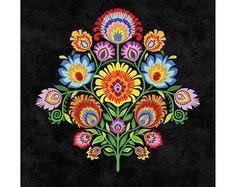 Wycinanki Giclee Folk Art Print Imagine  Folk Colors by Groovity, $22.00