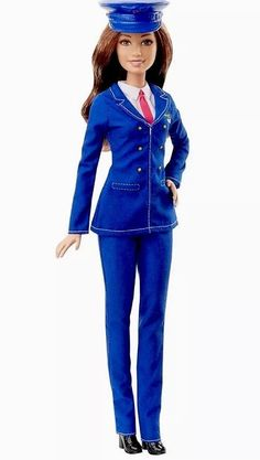 Barbie Career Doll  Pilot Mattel Blue Flyers Outfit Red Tie New In Box #Mattel #ClothingShoes