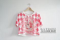 满额包邮原创MAX原宿风软妹子糖果色卡通美少女战士月野兔短款t恤-淘宝网