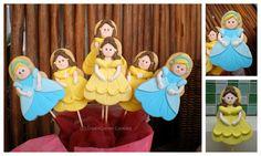 Cinderella and Belle Cookies